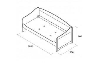 Диван-кровать Бьянка 90 см Аква Родос