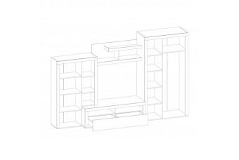 Гостиная Неон-2 + Комод 2Д4Ш Північне дерево/Дуб золотий
