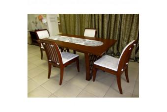 Комплект Стол обеденный B390-9 и стулья B390-8B. Фабрика Sedino.
