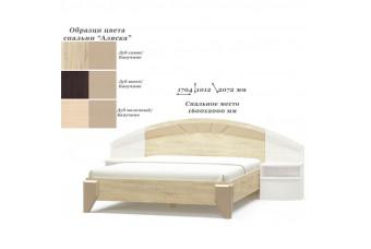 Кровать 160 Аляска Венге темный/дуб молочный/дуб самоа