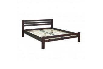 Кровать Алекс с ламелями 90 орех яблоко Мебель-Сервис