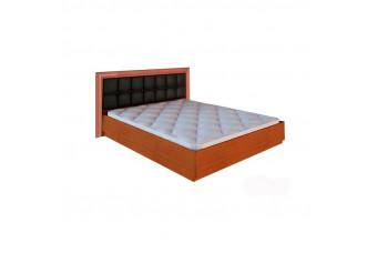 Кровать Bella Мягкая спинка с подъемным механизмом Черный Глянец/Вишня Бюзум 180х200 BL-49-BL