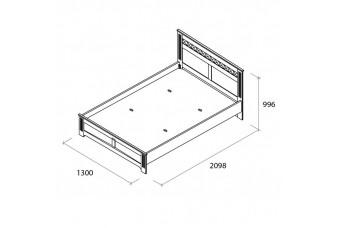 Кровать Бьянка 120 см. Аква Родос