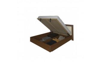 Кровать c подъемным механизмом Bella (с каркасом, без матраса) Ваниль глянец/Вишня бюзум 160х200 BL-46-VN