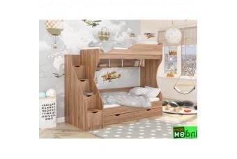 Кровать двухъярусная КД-01 (левая) Дуб Кастелло Коньячный Maxi Меблі