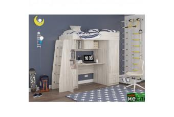 Кровать двухъярусная КД-02 (левая) Сосна Лофт Кремовая Maxi Меблі