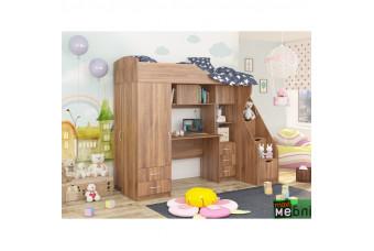 Кровать двухъярусная КД-02 (правая) Дуб Кастелло Коньячный Maxi Меблі