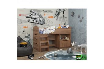Кровать двухъярусная КД-04 (левая) Дуб Кастелло Коньячный Maxi Меблі