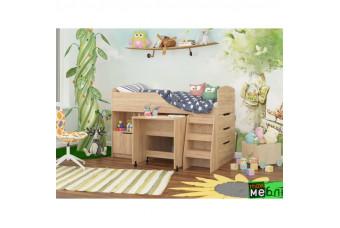 Кровать двухъярусная КД-04 (правая)  Дуб Крафт Золотой Maxi Меблі