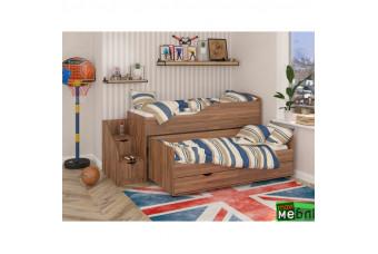 Кровать двухъярусная КД-06 (левая) Дуб Кастелло Коньячный Maxi Меблі