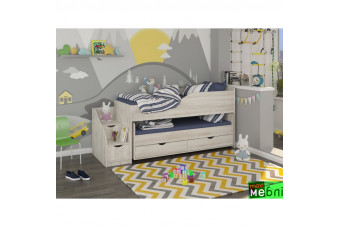 Кровать двухъярусная КД-06 (левая) Сосна Лофт Кремовая Maxi Меблі