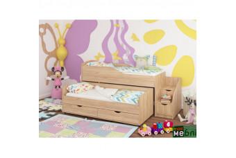 Кровать двухъярусная КД-06 (правая) Дуб Крафт Золотой Maxi Меблі