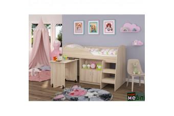 Кровать двухъярусная КД-07 (правая) Дуб Сонома Светлый Maxi Меблі
