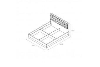 Кровать Кристал 160 см С Подъемным Механизмом Аква Родос Украина