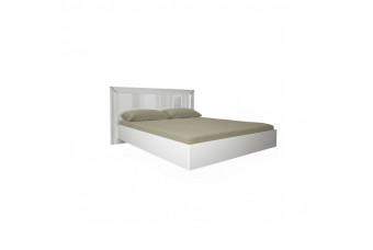 Кровать с мягким изголовьем и подъемным механизмом Bella белый глянец (с каркасом, без матраса) 160x200 BL-47-WB