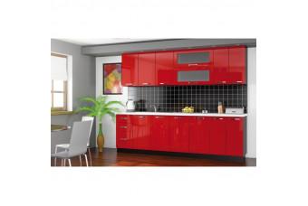 Кухня Gamma Прямая Красная Hight Gloss
