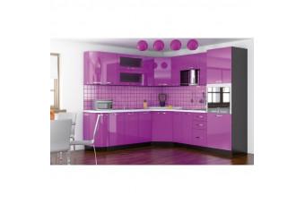 Кухня Gamma Угловая Сирень Hight Gloss