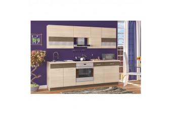 Кухня Garmonia Прямая Бежевая Hight Gloss
