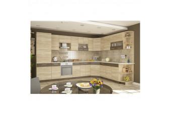 Кухня Greta Угловая Бежевая Hight Gloss
