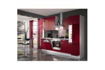 Кухня High Gloss Прямая МДФ крашеный