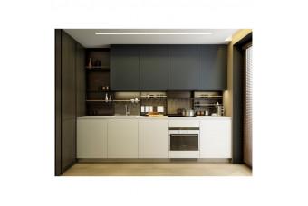 Кухня High Gloss Прямая МДФ крашеный матовый