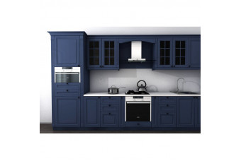 Кухня High Gloss Прямая МДФ крашеный синий