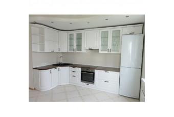 Кухня High Gloss Угловая МДФ крашеный белый