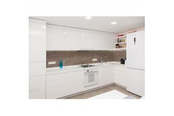 Кухня High Gloss Угловая МДФ крашеный белый глянец
