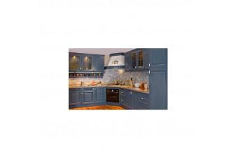 Кухня High Gloss Угловая МДФ крашеный синий
