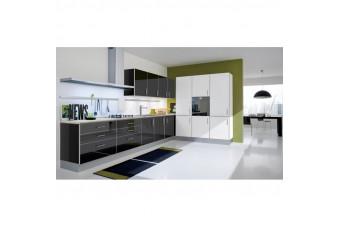 Кухня Mirror Gloss Угловая Шоколад и белая