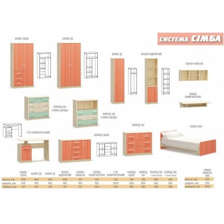 Полка навесная Симба Мебель Сервис