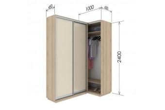 Приставной шкаф-купе Гарант 100х60х240 см.