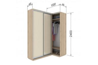 Приставной шкаф-купе Гарант 110х45х240 см.