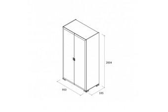 Шкаф 2-х дверный белый глянец Карат (Karat) Аква Родос