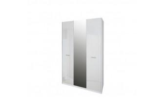 Шкаф Bella С Зеркалом Белый глянец Трехдверный 3Д BL-13-WB