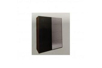 Шкаф-купе Bella 2.0 Черный глянец/Вишня бюзум Двухдверный с зеркалом BL-15-BL