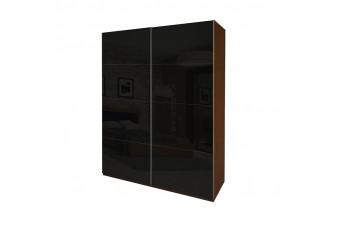 Шкаф-купе Bella 2.0 вишня бюзум/черный глянец BL-20-BL