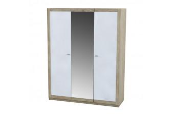 Шкаф Малага 3-х дверный Аква Родос