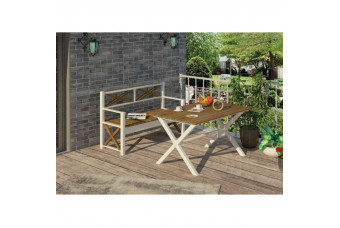 Стол и лавка садовые Мебигранд