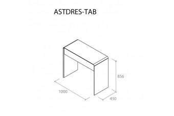 Туалетный Столик Астрид серый Аква Родос