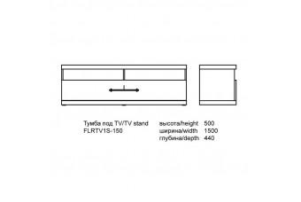 Тумба под телевизор Florencia Аква Родос FLRTV1S-150